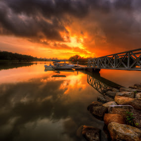 Let's The Fire Blown The Sky by Mohd Tarmudi - Landscapes Sunsets & Sunrises ( putrajaya wetland,  )