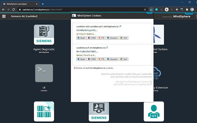 MindSphere Authentication Helper Extension