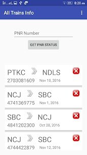 All Trains Info & PNR Status – IRCTC Railway App Download For Android 2