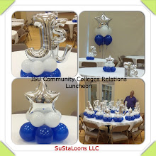 Photo: balloon decor for a luncheon