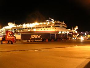 Photo: Nach ca. 5,5 Std Fahrt am Abend angekommen in Hirshals, Dänemark