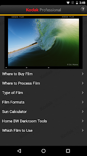 KODAK PROFESSIONAL Film App- screenshot thumbnail