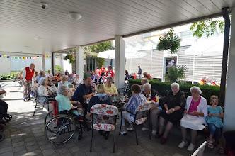Photo: Eine würdige 1. Augustfeier geht zu Ende. Wir danken der Heimleitung für das Engagement und für den anschliessenden Imbiss, wir kommen gerne wieder.