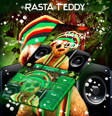 Rasta Teddy Bear Keyboard - screenshot