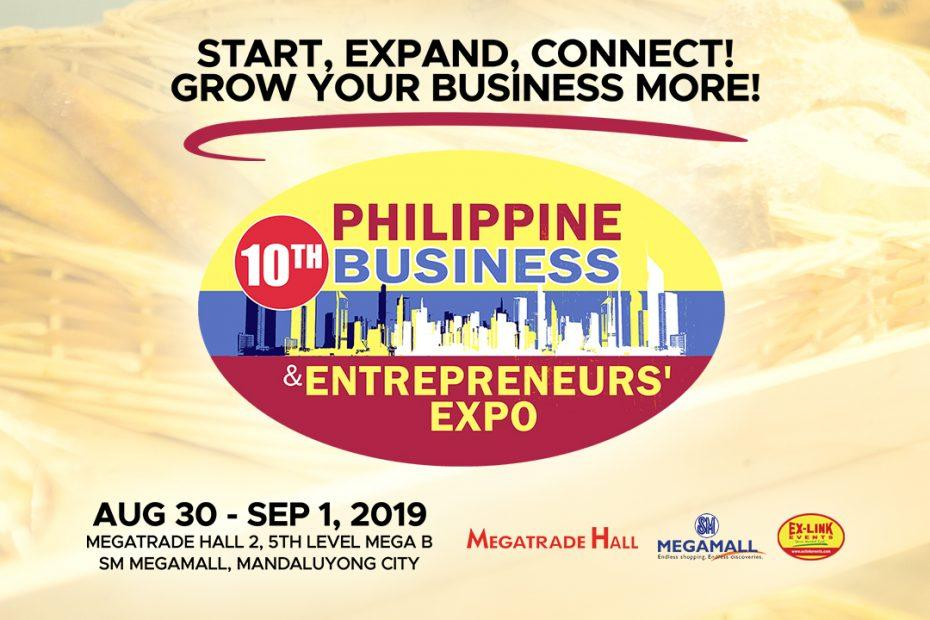 Philippine Business and Entrepreneurs' Expo - August 30 to September 01, 2019 - Megatrade Hall 2, SM Megamall