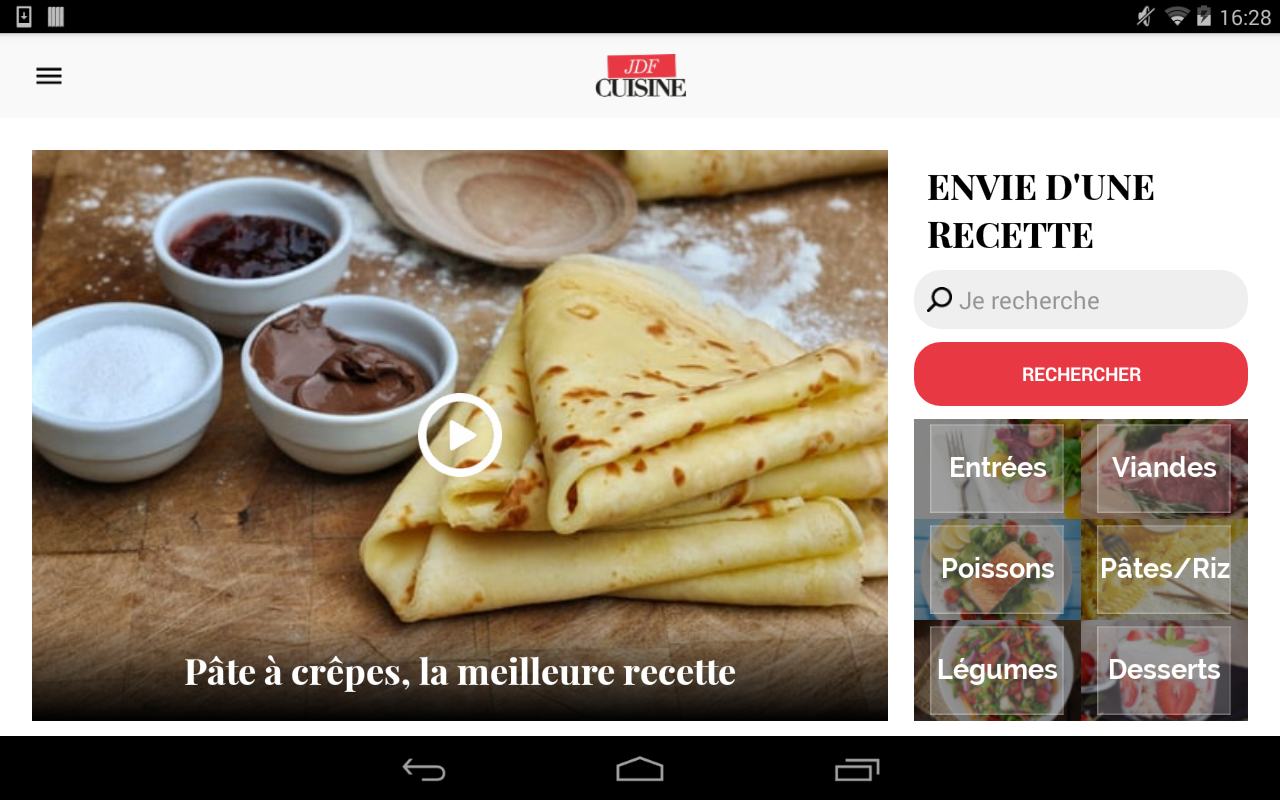 Cuisine 45 000 recettes android apps on google play - Application android cuisine ...