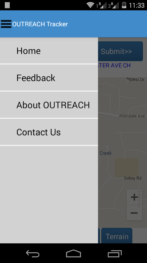 OUTREACH - Tracker- screenshot