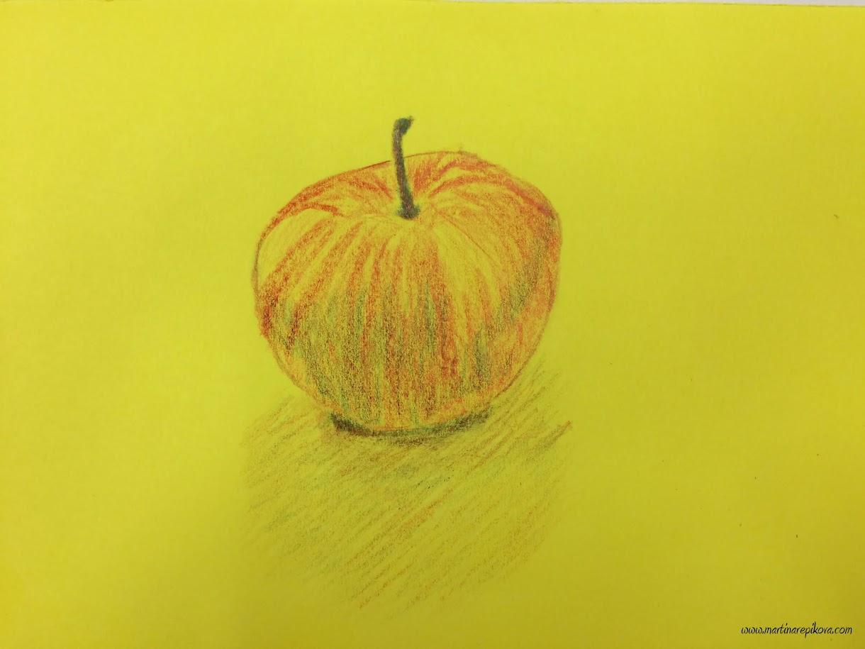 Kreslenie farbičkami na farebnom podklade