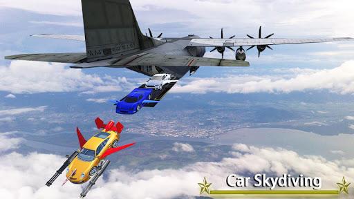 Skydiving Flying Car Stunt : Air Combat Fight Race 1.0 screenshots 2