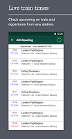 Screenshot of Train times, travel & tickets