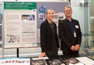 Photo: UCB sponsor rep Jane Fisher and Dr Steven Petratos, Senior lecturer in Pathology and coordinator for the event. http://www.med.monash.edu.au/cecs/events/2015-tr-symposium.html