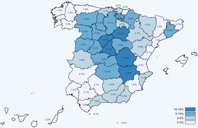 Mapa de inmunidad publicado por el Ministerio de Sanidad.