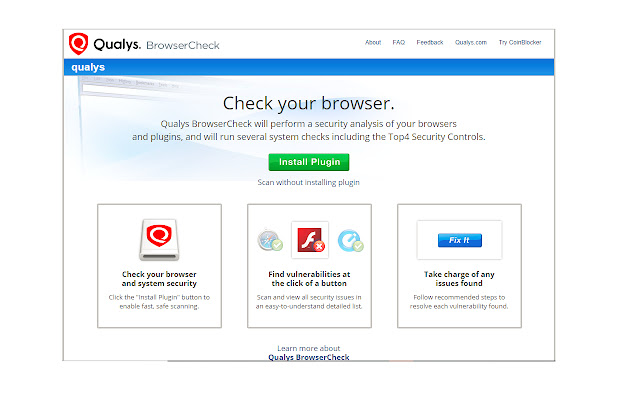 Qualys BrowserCheck for Windows