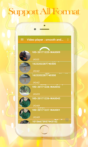 Video player : smooth & Background Player 1.2 screenshots 4