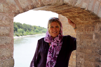 Photo: Day 136 -  Dee at Si-o-Se Pol Bridge (bridge of 32 arches) in Esfahan
