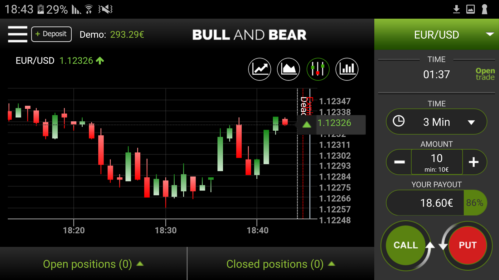 BullaBear Binary Option- screenshot