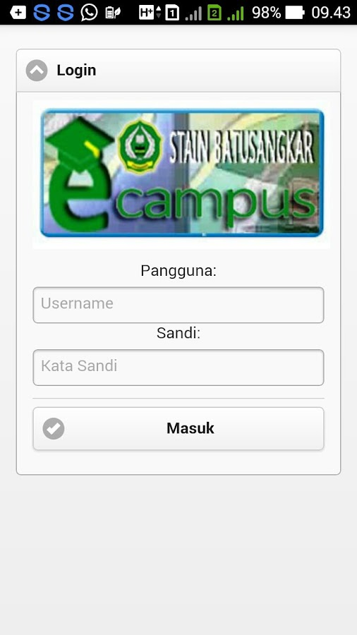 eCampus IAIN Batusangkar- screenshot