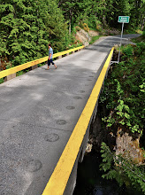 Photo: Single lane bridge over Harris Creek canyon