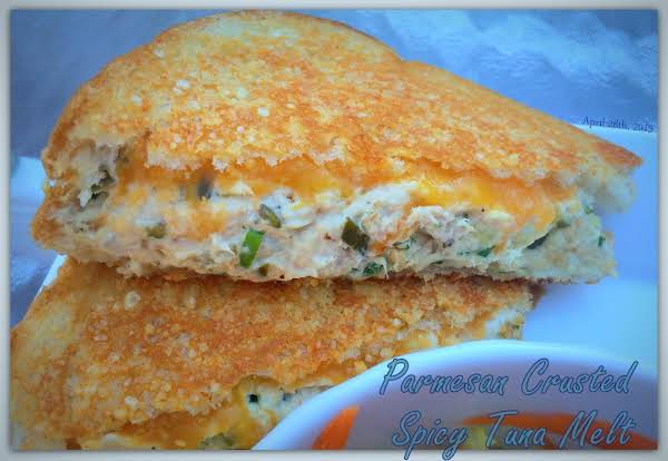 Parmesan Crusted Spicy Tuna Melt Recipe