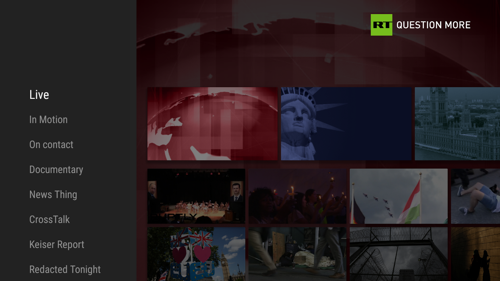 RT News for TV- screenshot