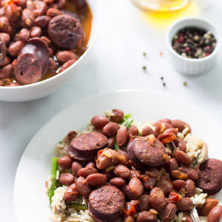 Pressure Cooker Sausage and Beans Recipe.