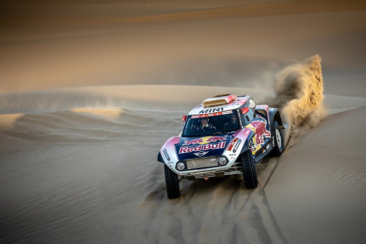 'Mr Dakar', 13-time winner Stephane Peterhansel, won Wednesday's stage in his Mini. Picture: SUPPLIED