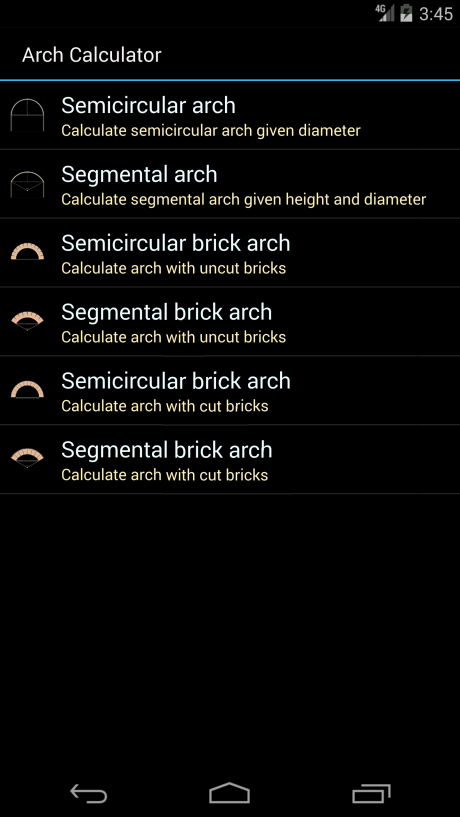 Brick Archway Calculator- screenshot