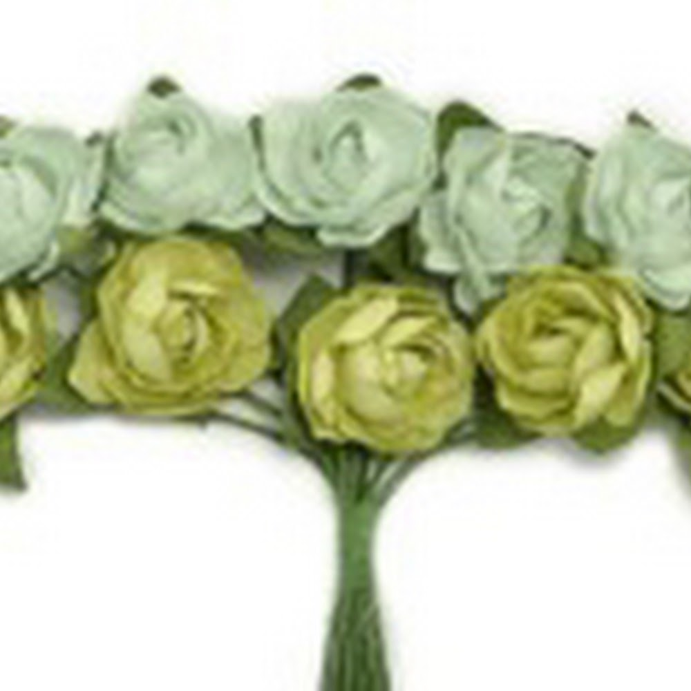 KC-Mini Paper Blooms(Olive)
