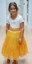 Photo: gold dress sewn by Tanya