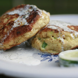 Salmon Patties with a Creamy Lemon-Dill Sauce