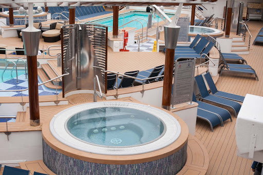 Celebrity-Infinity-whirlpool-on-Pool-Deck - A whirlpool on the Pool Deck of Celebrity Infinity.