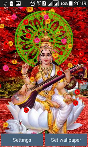 Lord Saraswati Live Wallpaper