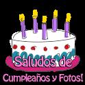 Saludos de cumpleaños y fotos icon