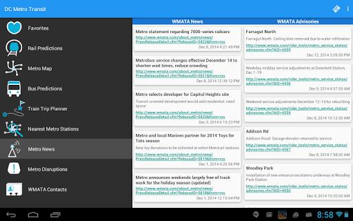 DC Metro Transit Info - Free screenshot 16