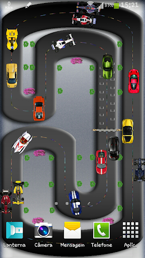 Cars on Track Live Wallpaper.