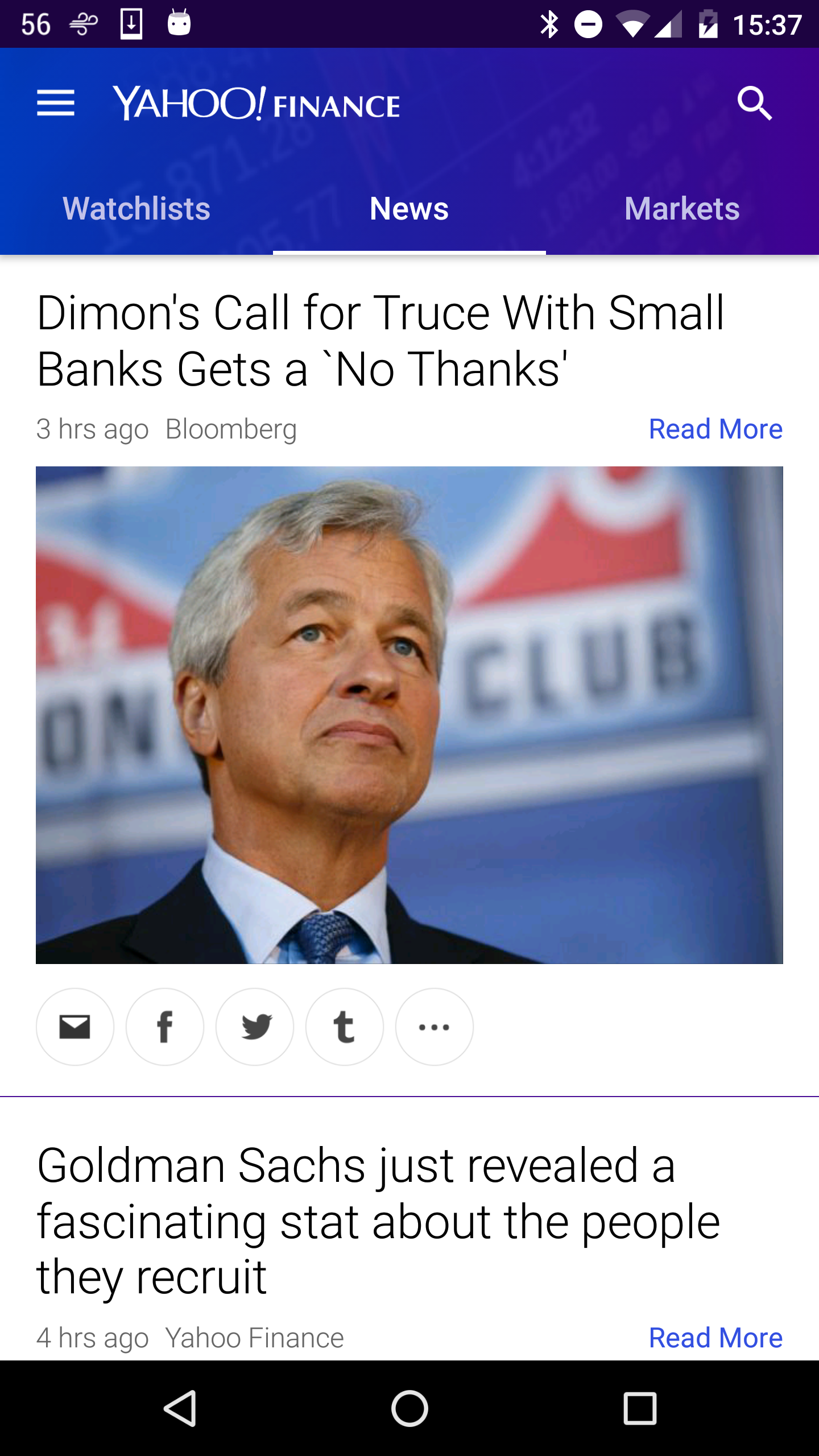 Yahoo Finance screenshot #4