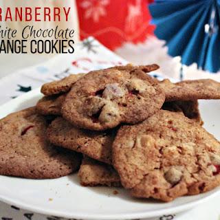 Cranberry White Chocolate Orange Cookies.