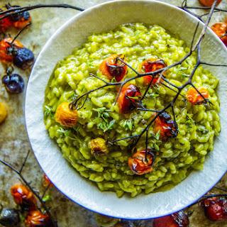 Spinach Basil Pesto Risotto
