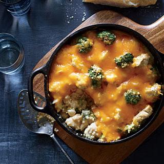 Broccoli-Quinoa Casserole with Chicken and Cheddar.