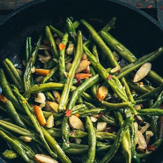 Sautéed Garlic Almond Green Beans.