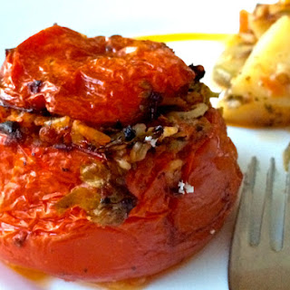 The Best Greek Stuffed Tomatoes and Peppers-Gemista.
