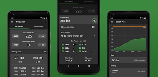 1 Rep Max Calculator and Log - Apps on Google Play