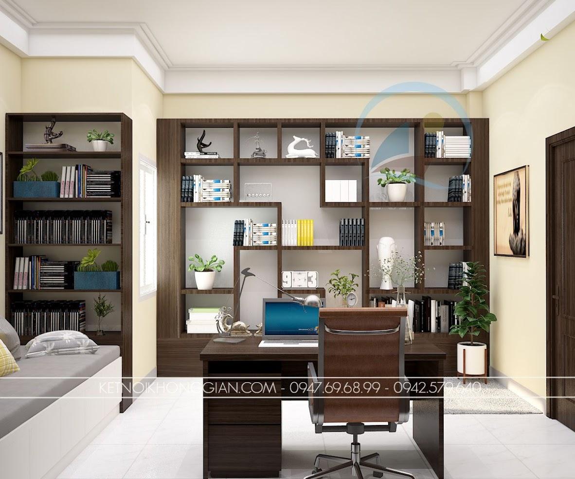 thiết kế phòng làm việc kết hợp phòng đọc sách và thiền 4