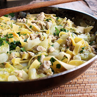 Quick One Pot Hungarian Chicken and Noodles With Cabbage.