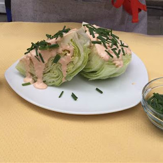 Iceberg Wedge Salad with Russian Dressing.