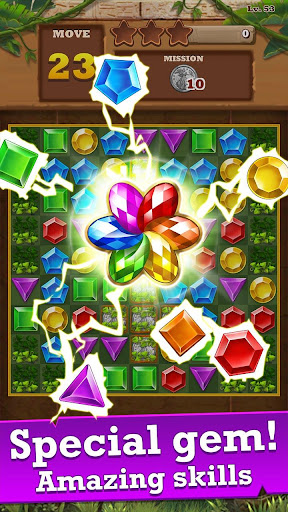 Jungle Gem Blast: Match 3 Jewel Crush Puzzles 4.2.5 screenshots 1