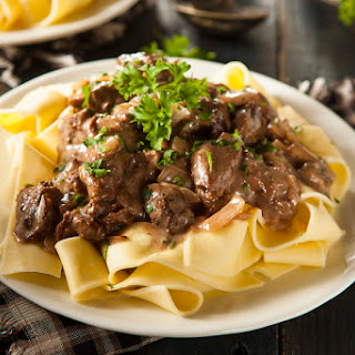 Simple Slow-Cooked Beef Stroganoff