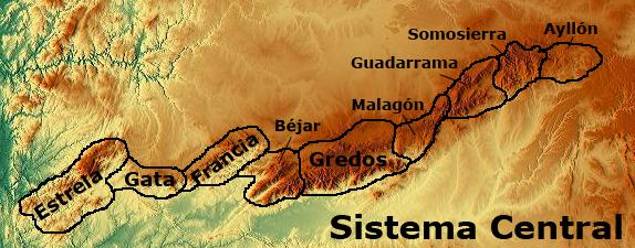 Resultado de imagen de sistema central guadarrama