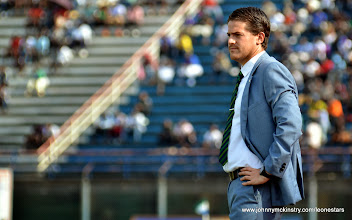 Photo: Head Coach, Johnny McKinstry  [Leone Stars v Seychelles, Freetown, 19 July 2014 (Pic: Darren McKinstry)]