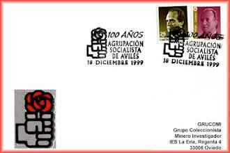 Photo: Matasellos del Centenario del Partido Socialista de Aviles en 1999